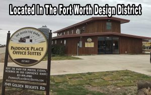 An office for rent at Paddock Place within the Fort Worth Design District is waiting for you.